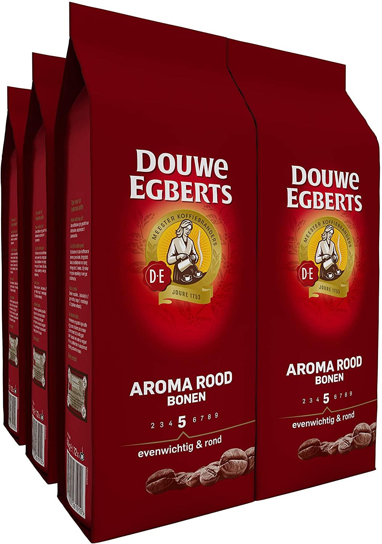 6×500 gr Douwe Egberts Aroma Rood Koffiebonen voor €32,70