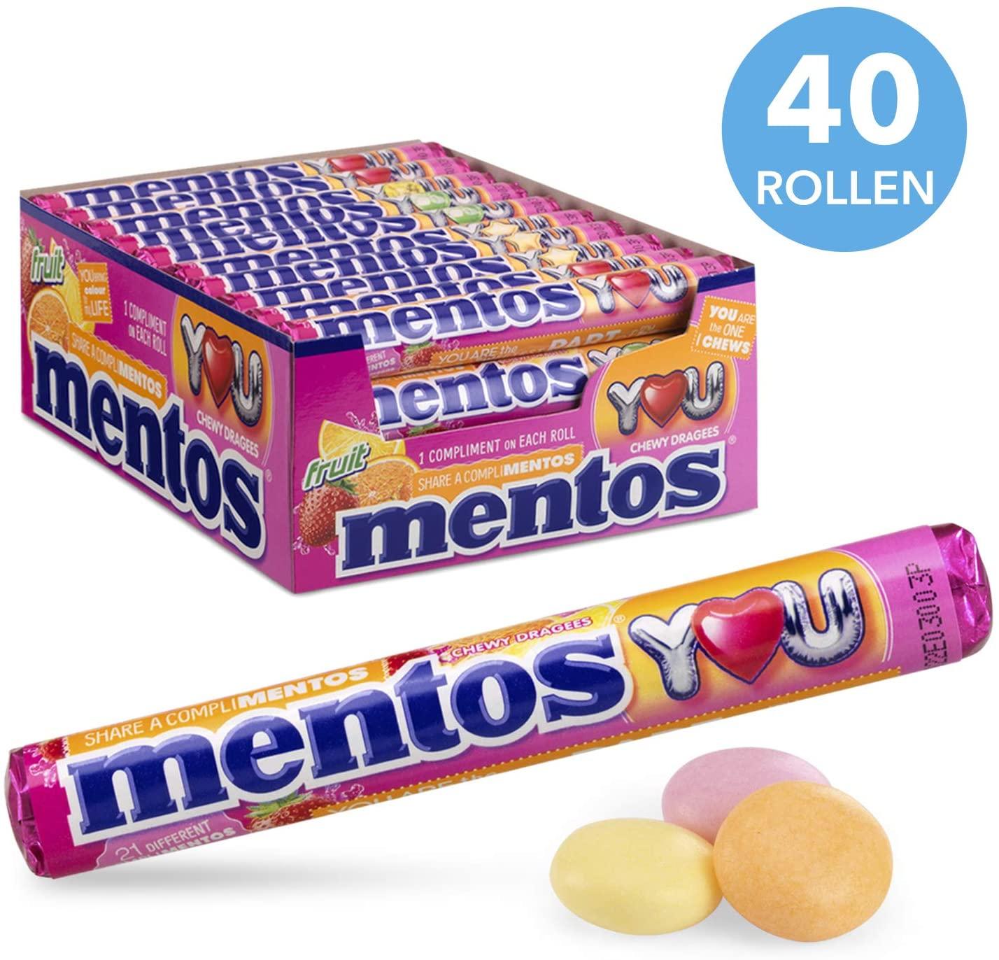 Mentos Fruit Snoep – 40 Rollen voor €11,98