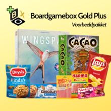 Bordspelbox met snacks in de aanbieding