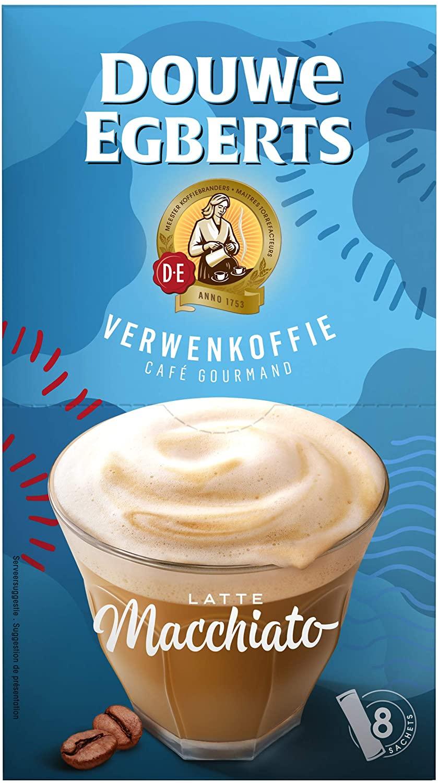 Douwe Egberts Verwenkoffie Latte Macchiato Oploskoffie 10 x 8 zakjes voor €11,40