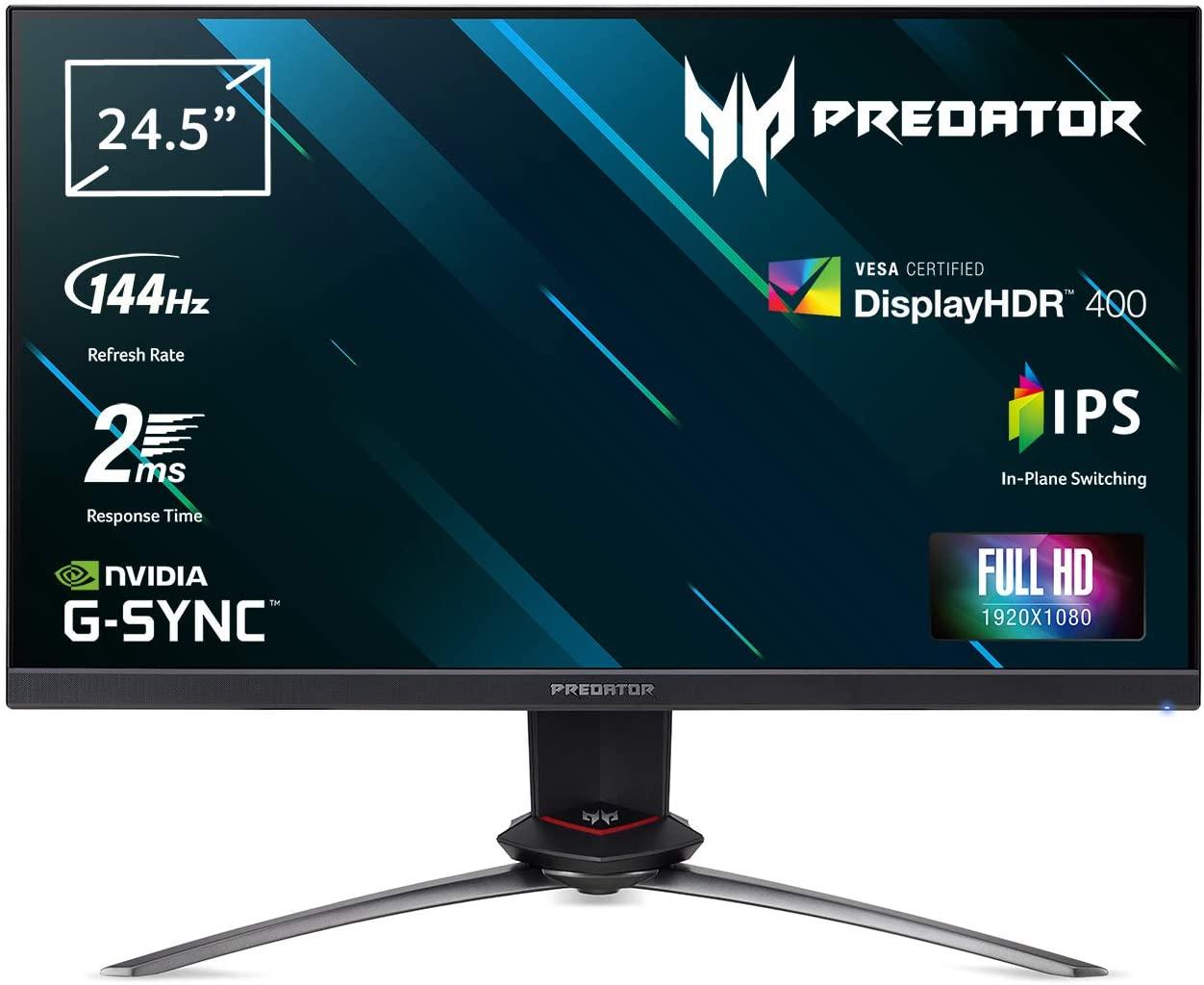 Acer Predator XB253QGP 24,5″ FHD IPS Gaming Monitor Zwart voor €269,00