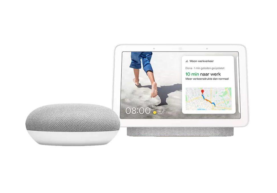 Google Nest Hub + Google Nest Mini voor €89