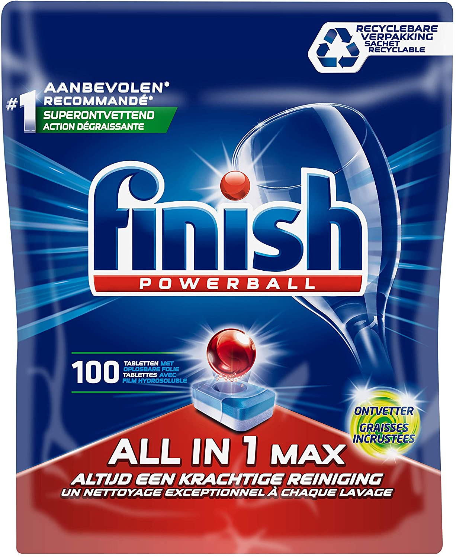 Finish All in 1 Max Grease Fighter – Vaatwastabletten – Kwartaal Pak – 100 stuks voor €9,52