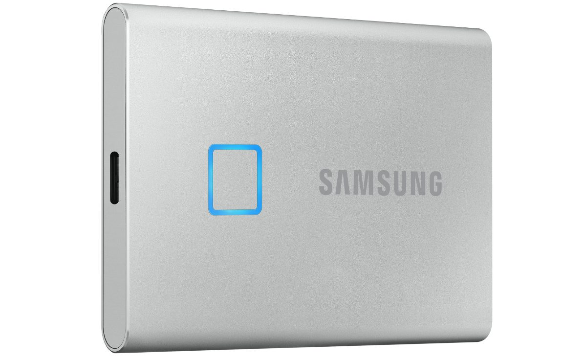 Samsung T7 Touch Portable SSD 1TB Zilver voor €169,26