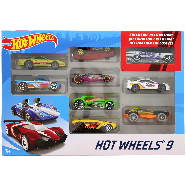9 Hot wheels autootjes voor €9,95