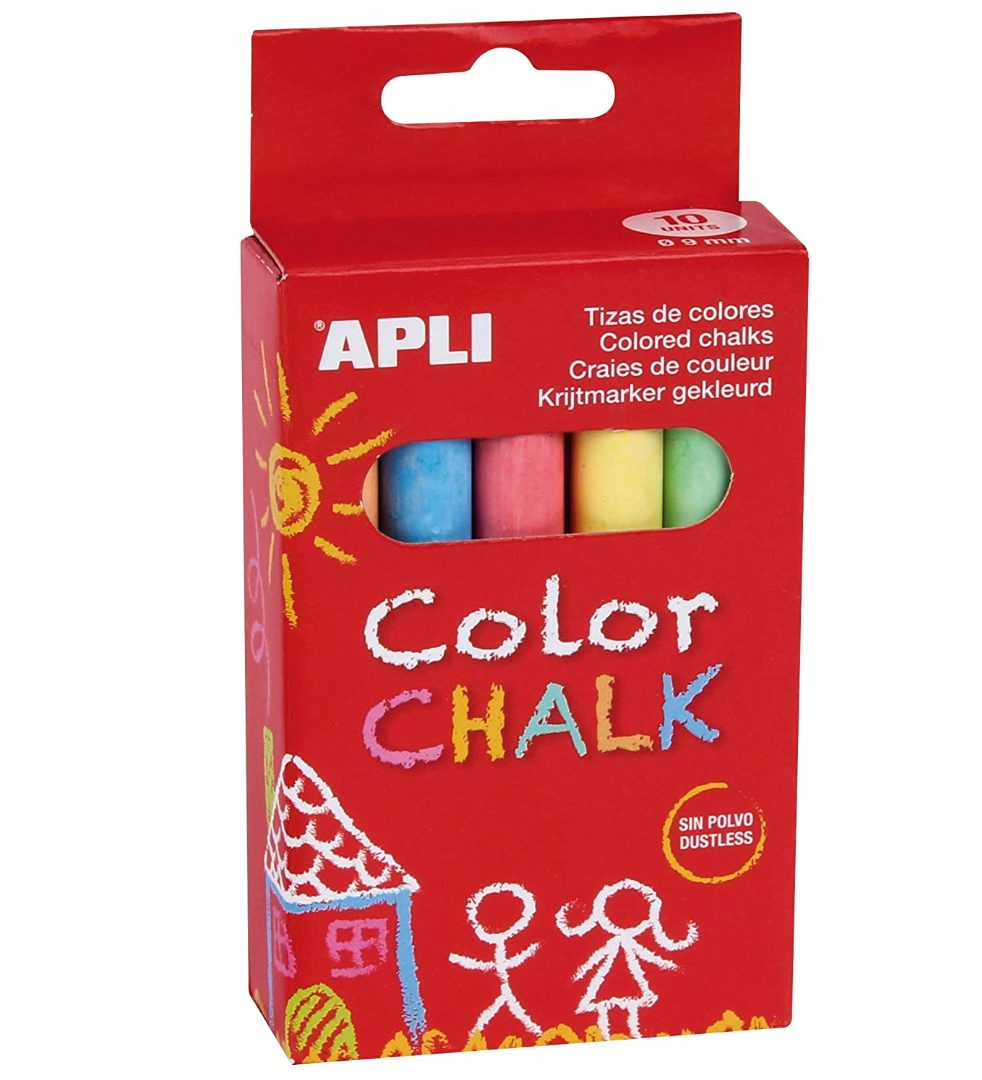 APLI Kids Stoepkrijt 10 verschillende kleuren voor €0,69
