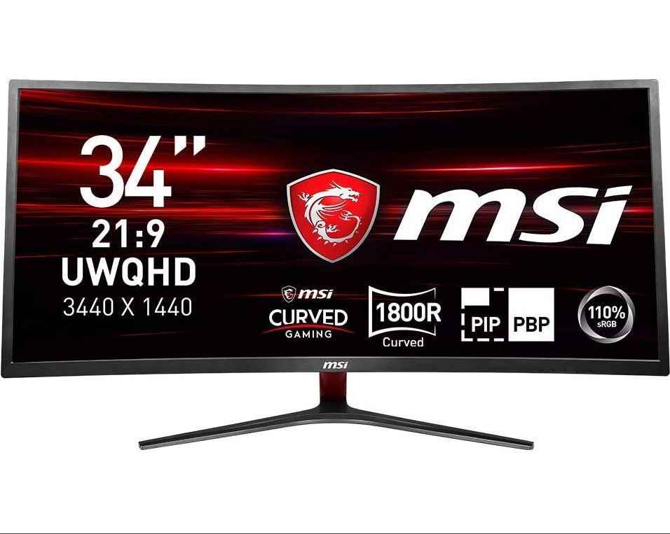 MSI Optix MAG341CQ – UWQHD Curved Gaming Monitor voor €349
