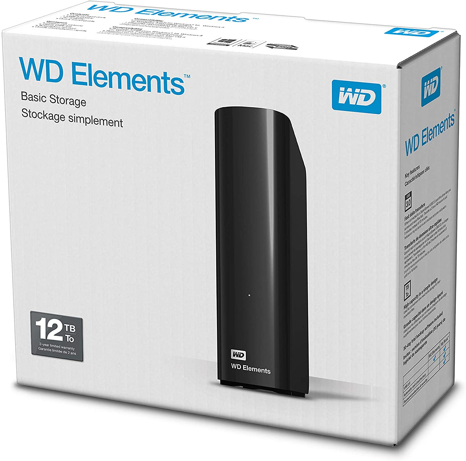 WD Elements Desktop 12 TB voor €191,90