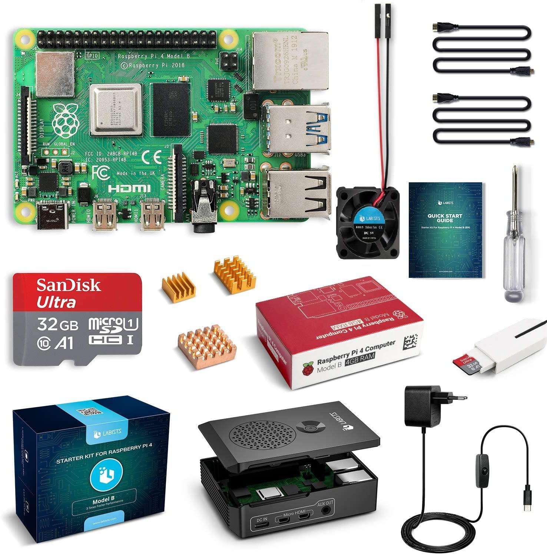 Labists Raspberry Pi 4 voor €76,99