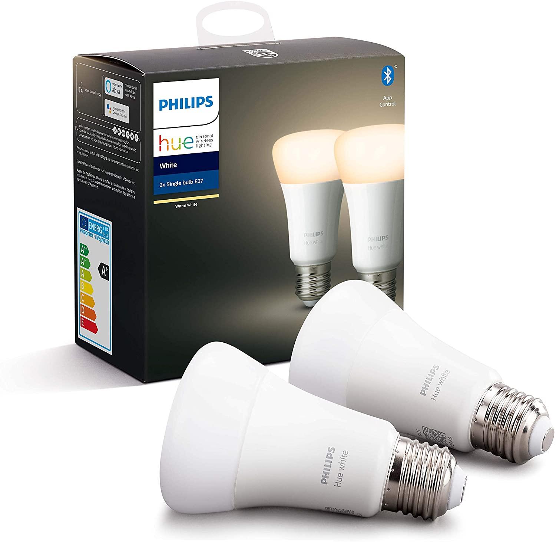 Philips Hue lamp standaard wit Ambiance E27 2 stuks voor €25,84