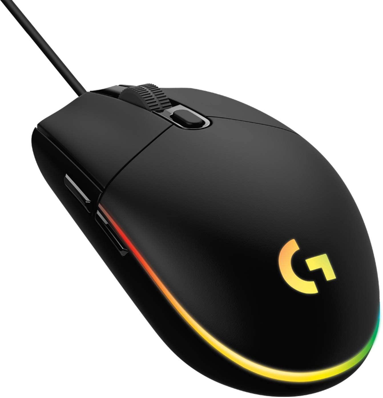 Logitech G203 Lightsync Gaming Muis Zwart voor €26