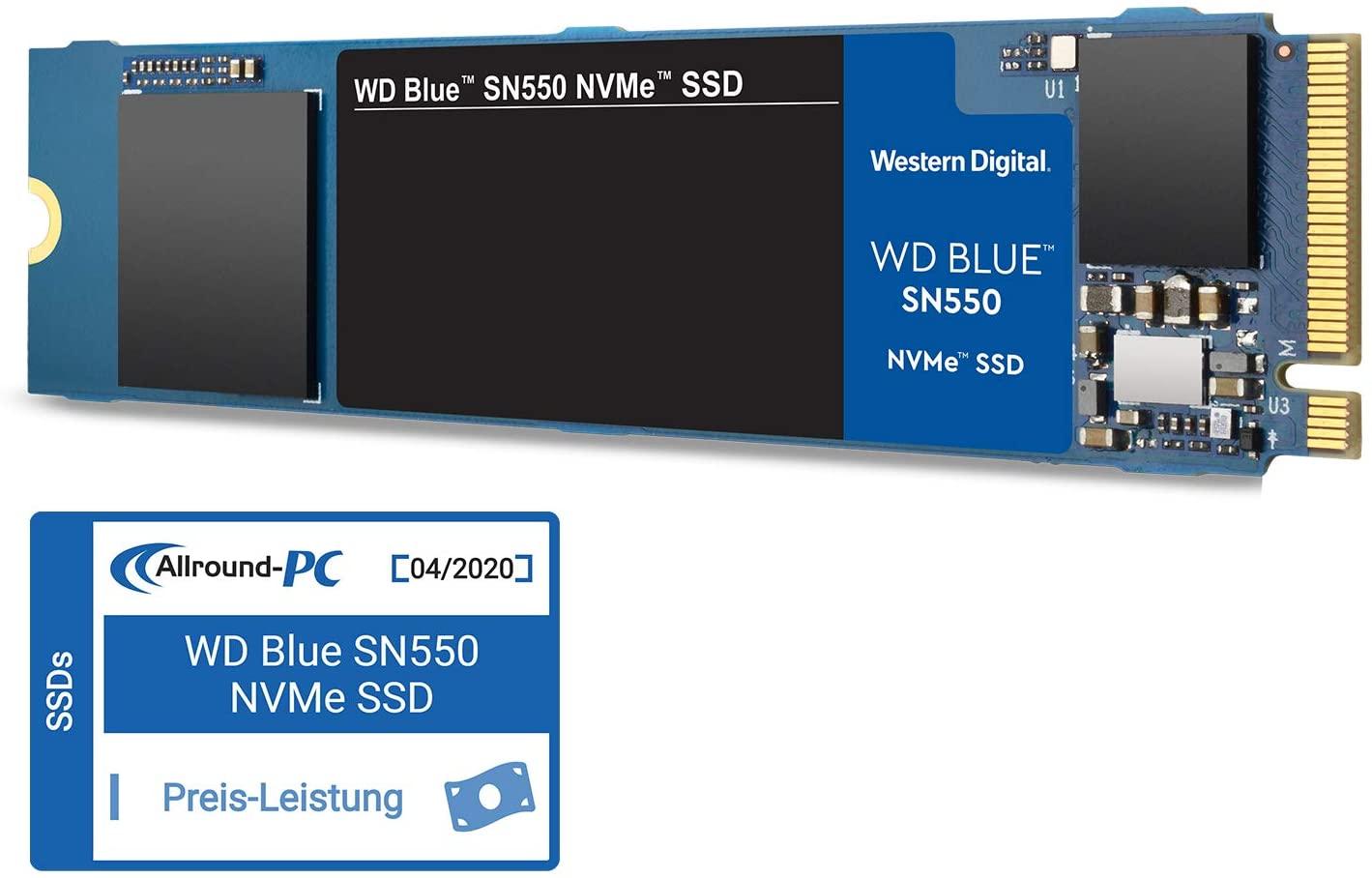 WD Blue SN550 500GB (WDS500G2B0C) voor €59,99