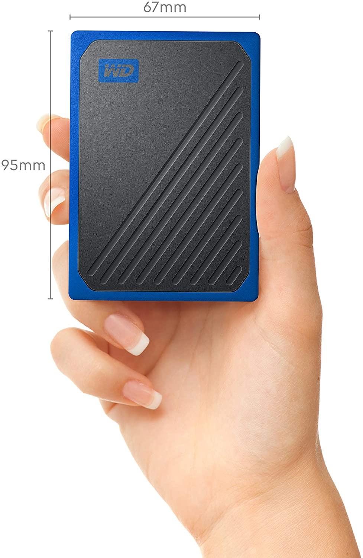 WD My Passport Go 500GB Zwart / Blauw voor €66,08
