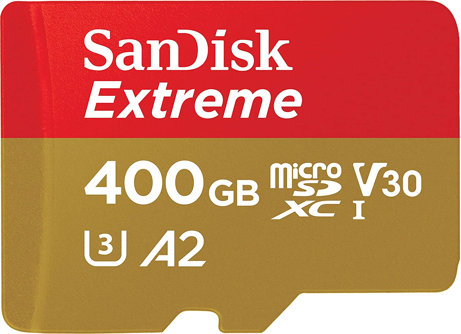 SanDisk Extreme MicroSDXC 400GB U3 A2 160MB/S voor €64,60