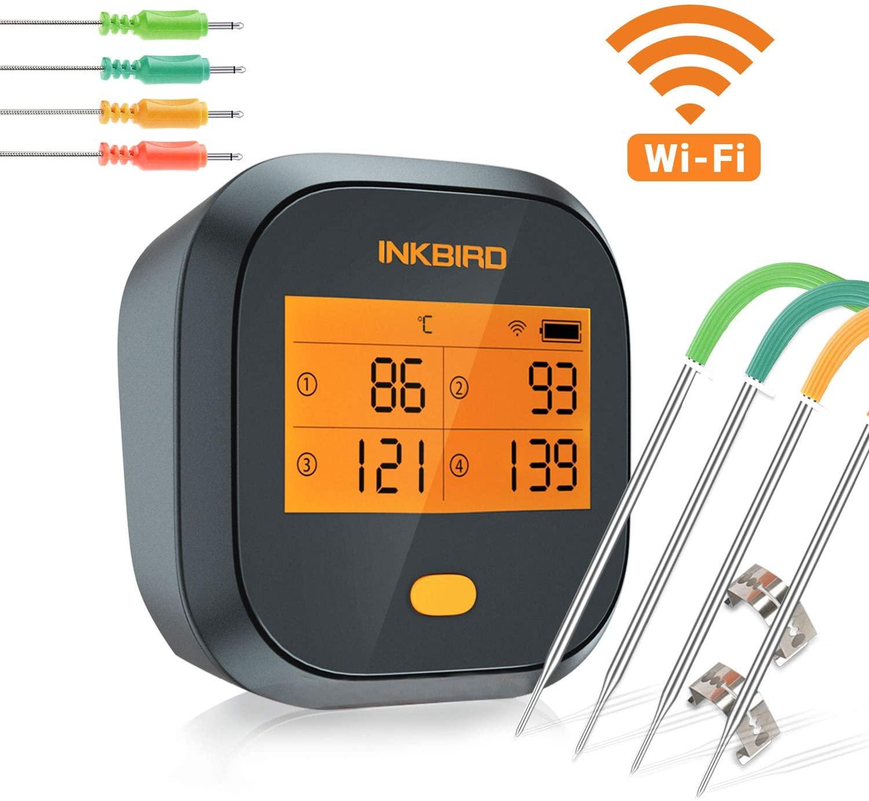 Inkbird IBBQ-4T WiFi thermometer met oplaadbare accu voor €49,99