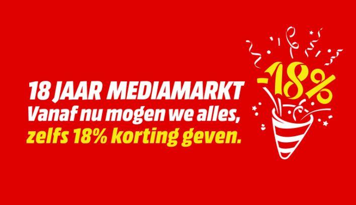 18% korting op alles (Belgie)