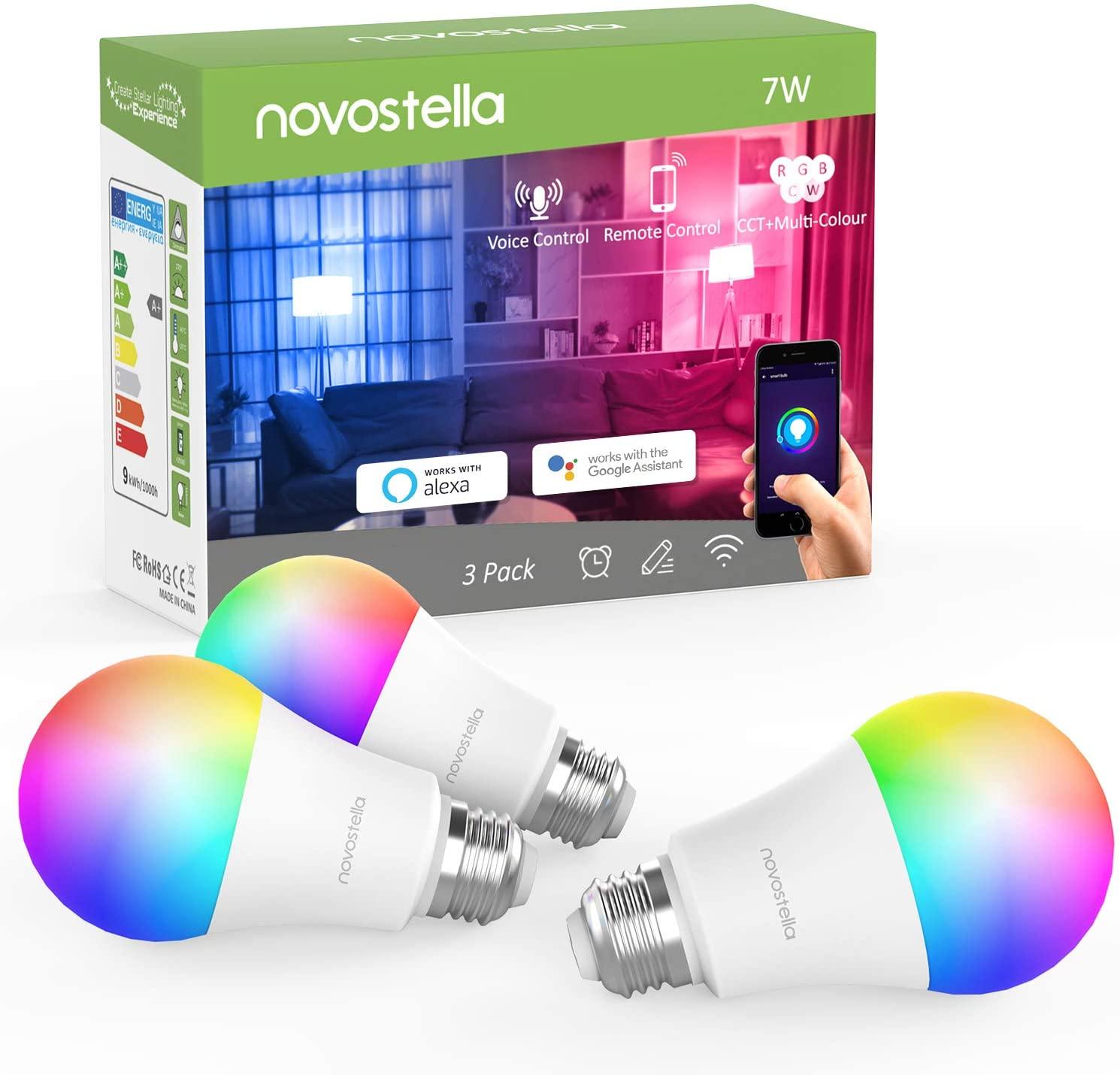 Novostella RGB LED Lampen – 3 stuks voor €10,50