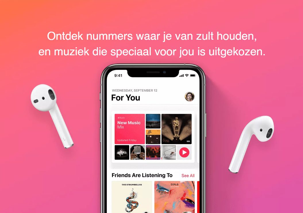 Probeer 4 maanden Gratis Apple Music