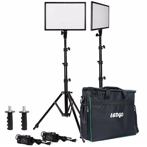 Ledgo E268CII Bi-color kit 2x led+ 2x statief + tas voor €399