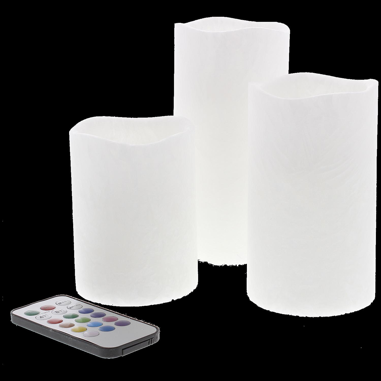 Set van 3 LED kaarsen voor €4,92