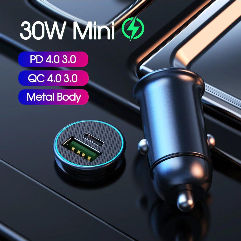 YKZ PD 30W Autolader voor €3,45 door kortingscode