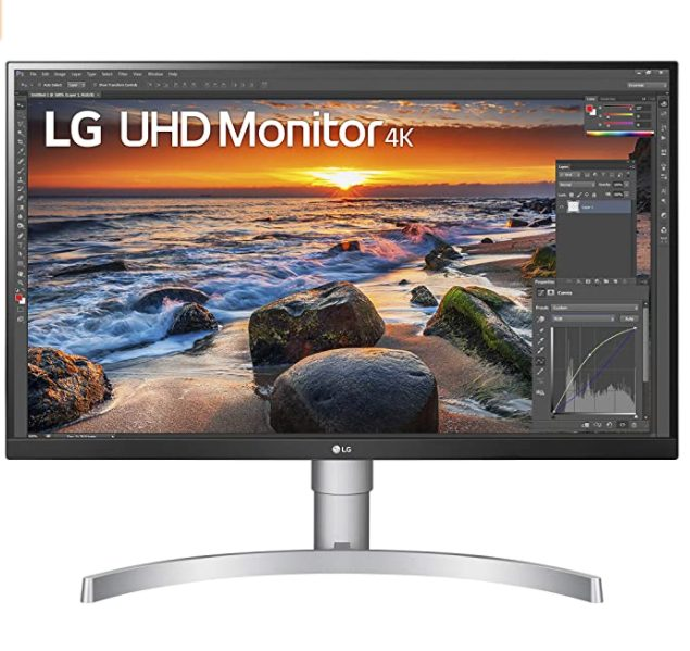 LG 27UN83A Monitor 27″ UltraHD 4K voor €399,99