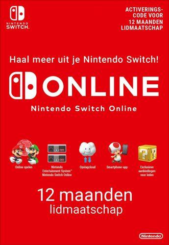 10% Korting op Nintendo Switch Online 12 maanden