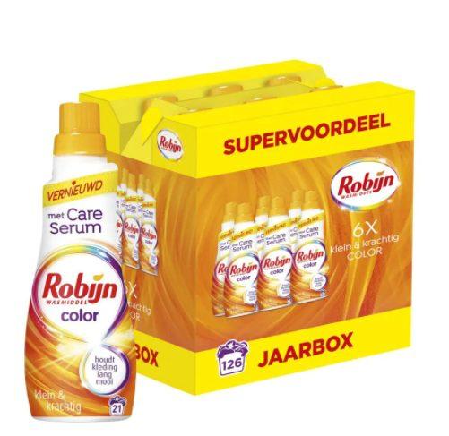 Robijn Klein & Krachtig Color Wasmiddel Jaarbox voor €17,99