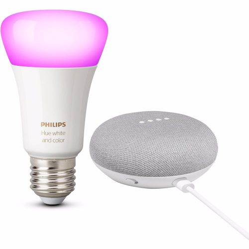 Philips Hue White and Color + Google Nest Mini voor €49,95