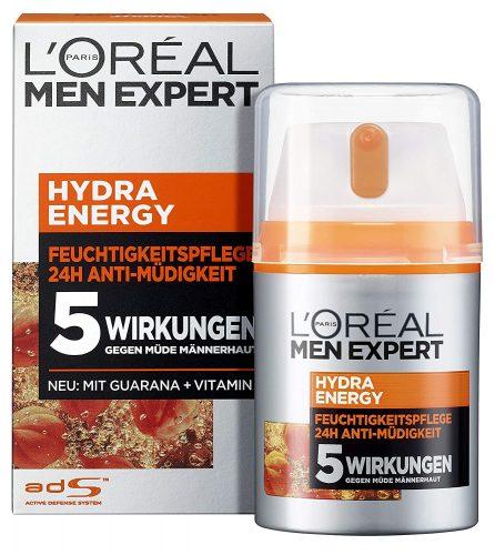 4x L'Oréal Men Expert Hydra Energy Gezichtscrème voor €18,58