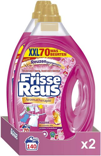 2x Color Reus Gel Vloeibaar Wasmiddel – Gekleurde Was 70 wasbeurten voor €14,99