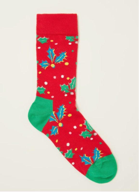 Happy Socks Holly kerstsokken met print voor €2,98