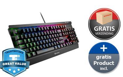 Sharkoon Skiller Mech SGK3 – Gaming Toetsenbord + XL gaming muismat voor €59,90