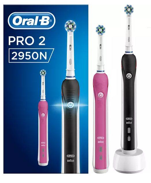 Oral-B PRO 2 2950 Black & Pink Cross Action voor €49