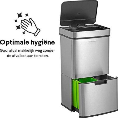 Homra Nexo Prullenbak – Met sensor – 72L afvalscheiding voor €129