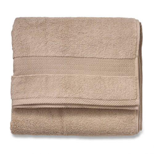 2x Blokker Handdoek 600g – beige – 70×140 cm voor €13,99