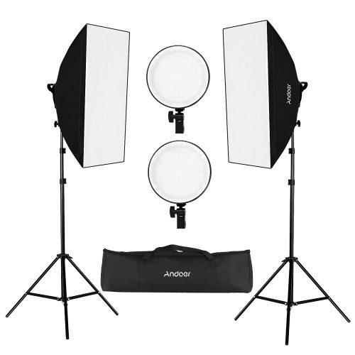 Andoer Studio Softbox Led Licht Kit voor €62,89