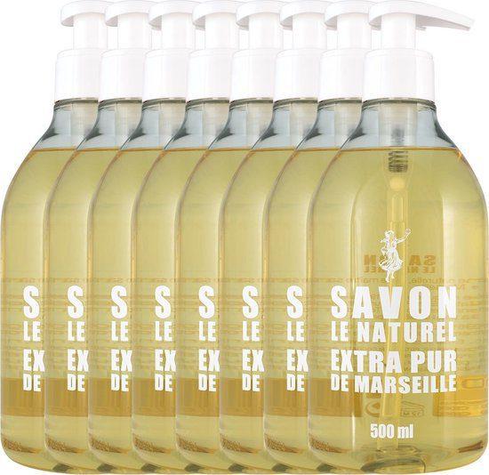 8x 500 ml Savon le Naturel Extra Pur Handzeep voor €15,16