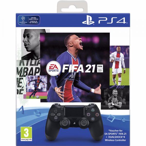 Dualshock 4 V2 Controller + FIFA 21 + 14 dagen PlayStation Plus voor €50