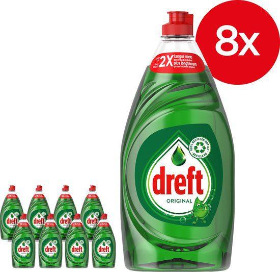 8x Dreft Original Vloeibaar Afwasmiddel Met LiftAction 890 ml voor €17,56