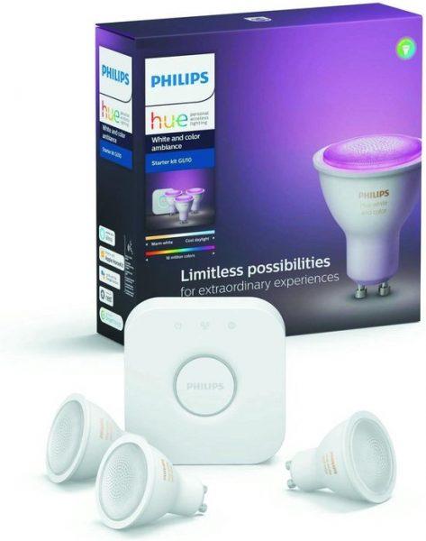 Philips Hue Starterspakket GU10 White and Color Bluetooth voor €129,99