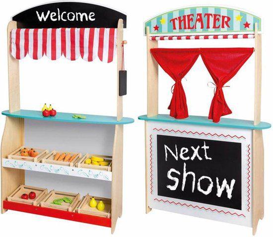 Jouéco 2 in 1 Theater en Winkel met Accessoires voor €29,99