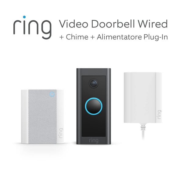 Ring Video Doorbell + stekkeradapter + digitale gong voor €59