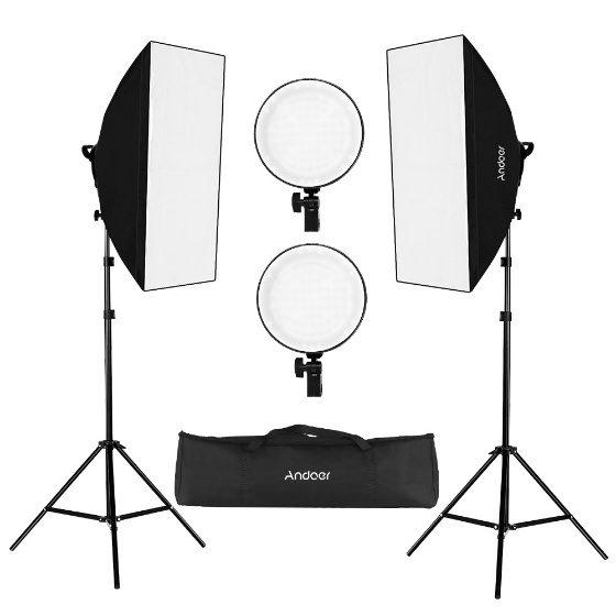 Andoer Fotografie Studio Softbox Led Licht Kit voor €62,15