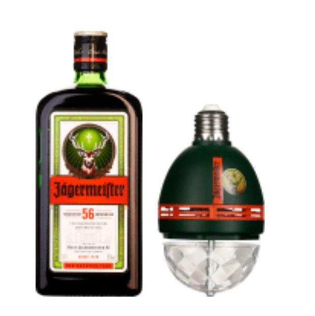 Fles Jägermeister 70CL + Spot On Disco Light voor €12,95 door kortingscode bij Drankdozijn