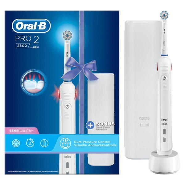 1+1 Gratis op Oral-B Pro 2 2500 Incl. Travelcase