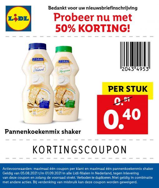 Belbake Pannenkoekenmix Shaker voor €0,40 door coupon