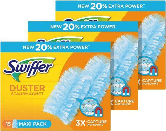 3×15 Swiffer Duster XXL navulling voor €10,24