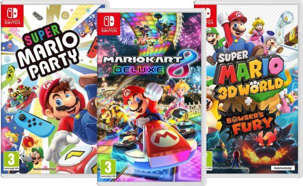 Nintendo Switch Mario Games Bundel voor €138,92