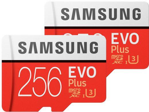 2x Samsung EVO Plus MicroSD 256GB voor €49,95